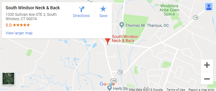 South Windsor Chiropractor Map